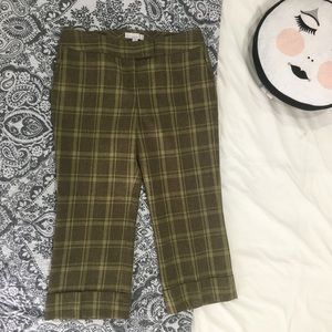 Green Plaid Calson Nordstrom Ankle Pants 12 EUC